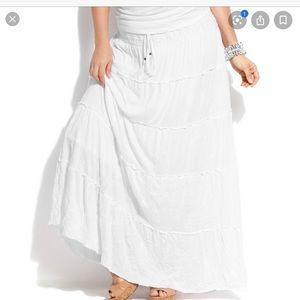 MAXI COTTON TIERED PRAIRIE SKIRT